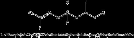 1-chloropropan-2-yl (E)-(((chlorofluoromethylene)amino)oxy)phosphonofluoridate