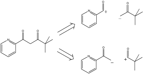 disconnection of 13 diketone